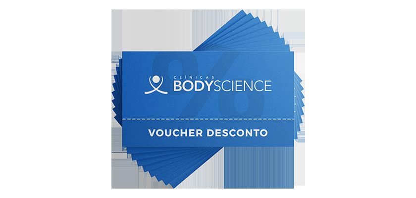 Voucher de desconto em tratamentos da BodyScience