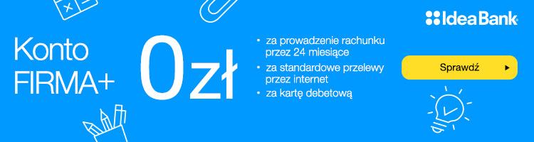 Konto Firma+ za 0 zł